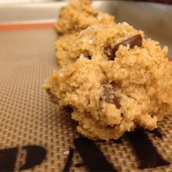 Raw cookie dough goodness...keep it together, guys